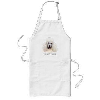 White Poodle Illustrated Apron