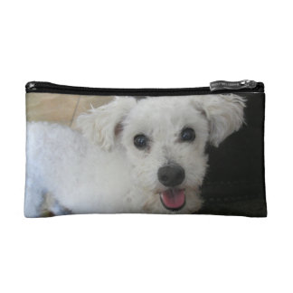 White Poodle Make-up Bag Cosmetics Bags