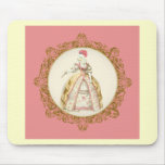 White Poodle Marie Antoinette Mouse Mats