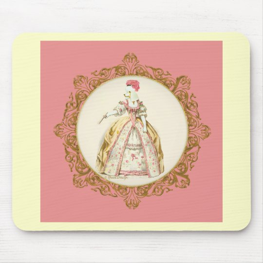 White Poodle Marie Antoinette Mouse Pad