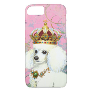 White Poodle Princess iPhone 8/7 Case