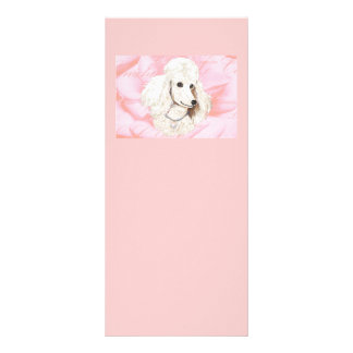 White Poodle Rose Petals Pink Invitation