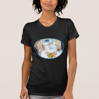 White Poodle Tea Party T-Shirt