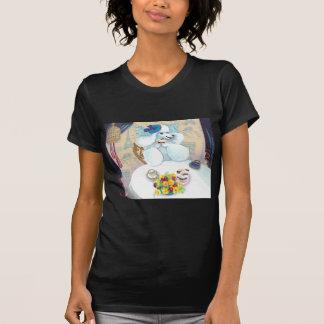 White Poodle Tea Party Tshirt