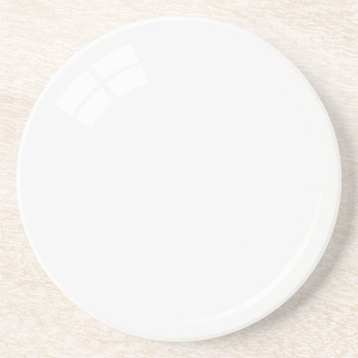White pool ball sandstone coaster