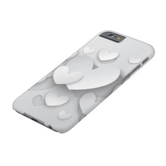 White Popup Hearts Barely There iPhone 6 Case