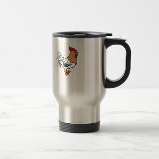 white poultry travel mug