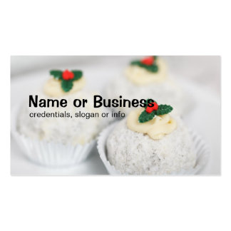 White Powdered Christmas cakes Double-Sided Standard Business Cards (Pack Of 100)