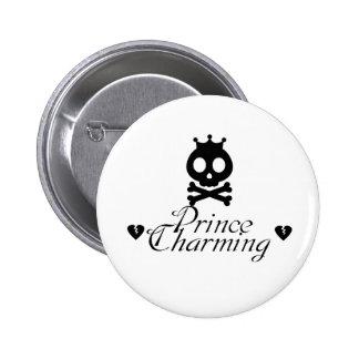 White Prince Charming Button