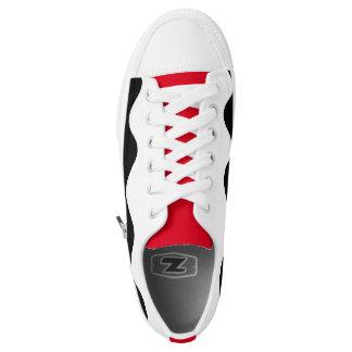 White printed designer Sneakers