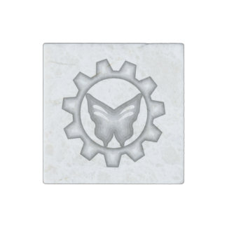 White Project Logo Magnet
