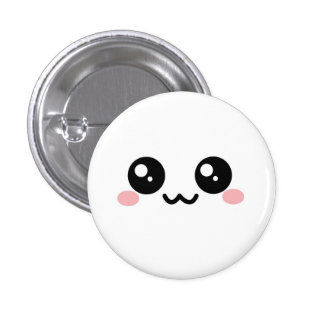 White Puff Face Button vers 2