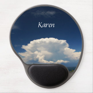 White Puffy Cloud Photo Gel Mouse Pad