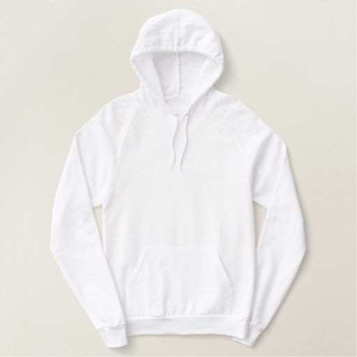 White Pullover Fleece Hoodie - option to customise