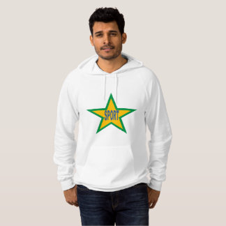 White Pullover with hood SPORT BRAZIL