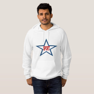 White Pullover with hood SPORT the USA