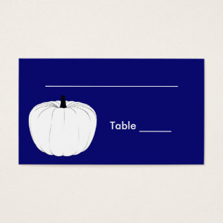 White Pumpkin Seating Card
