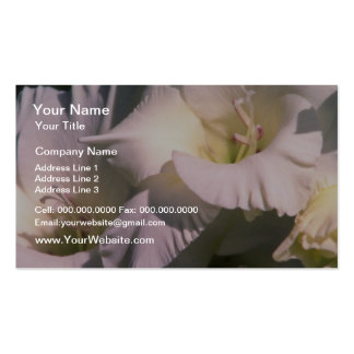 white Pure white flowers Business Card Template