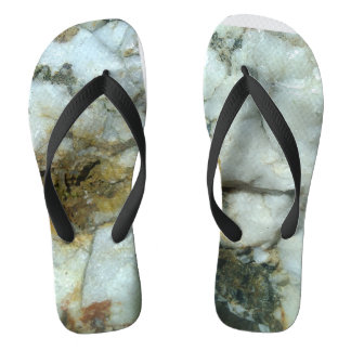 white quartz flip-flops' thongs