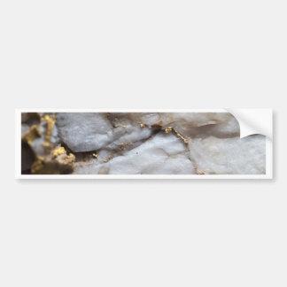 White Quartz with Gold Veining Bumper Sticker
