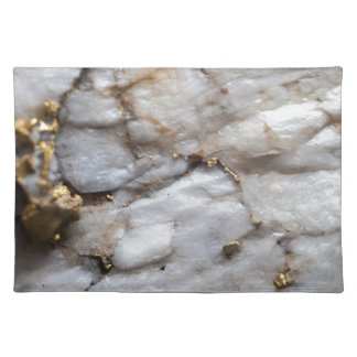 White Quartz with Gold Veining Placemat