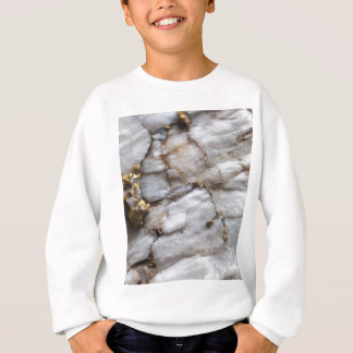 White Quartz with Gold Veining Sweatshirt