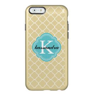 White Quatrefoil Monogram Incipio Feather® Shine iPhone 6 Case