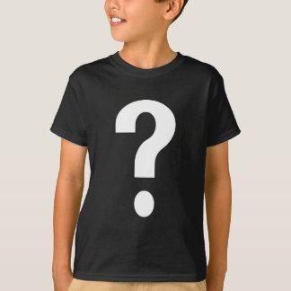 White Question Mark T-Shirt