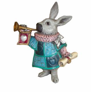 White Rabbit 6 Ornament Photo Sculpture Decoration