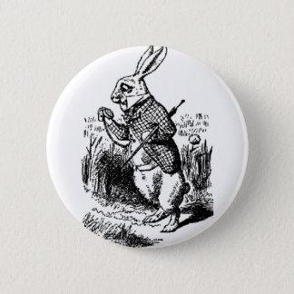 White Rabbit - Alice in Wonderland 6 Cm Round Badge