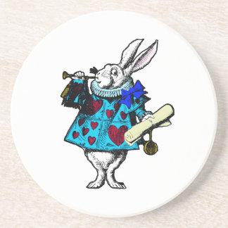 White Rabbit Alice in Wonderland Coaster