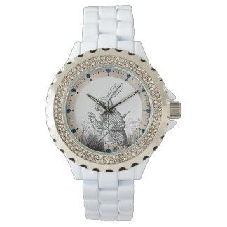 White Rabbit Alice (In Wonderland) Enamel Watch