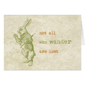 White Rabbit, Alice in Wonderland Greeting Card