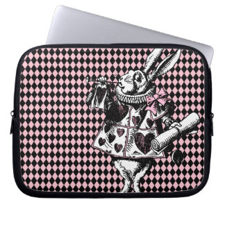 White Rabbit Alice in Wonderland Laptop Sleeve