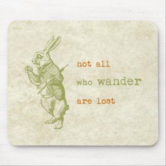 White Rabbit, Alice in Wonderland Mouse Pad