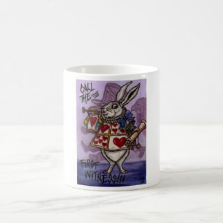 WHITE RABBIT Alice in Wonderland Mug