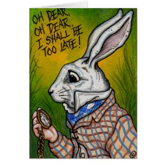 WHITE RABBIT Alice in Wonderland Note Card