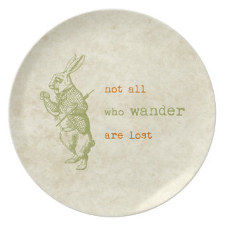 White Rabbit, Alice in Wonderland Plates