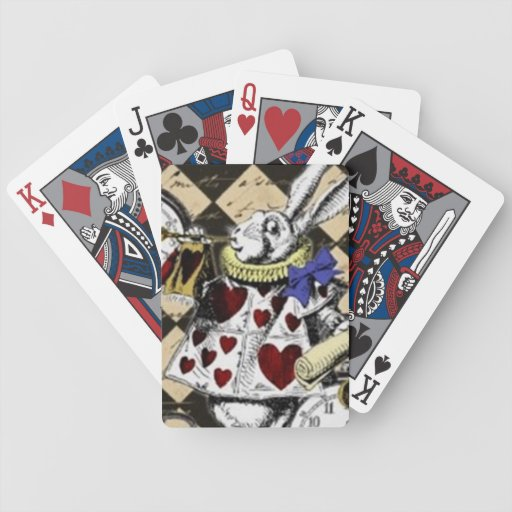 White Rabbit Alice in Wonderland Playing Cards!