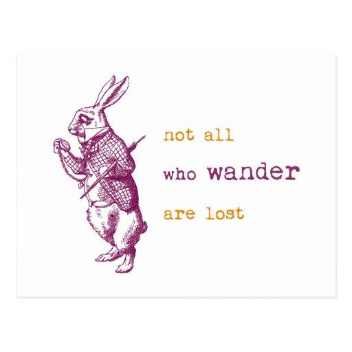 White Rabbit, Alice in Wonderland Postcards