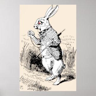 White Rabbit Alice In Wonderland Poster