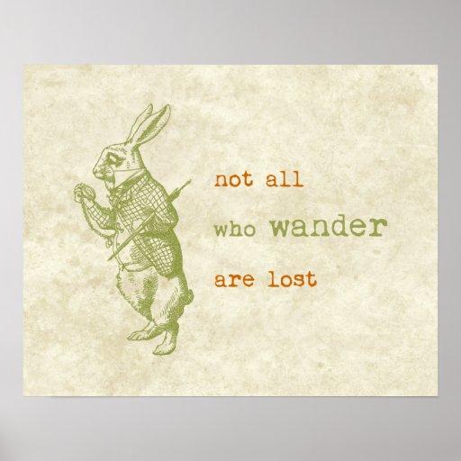 White Rabbit, Alice in Wonderland Poster