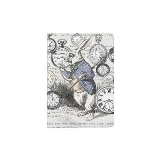 White Rabbit Alice in Wonderland Time Passport Holder