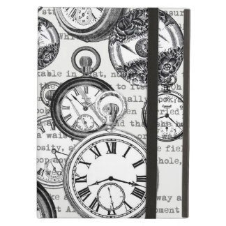 White Rabbit Alice Wonderland Clock Case For iPad Air