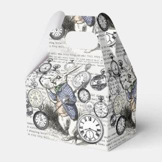 White Rabbit Alice Wonderland Clock Wedding Favour Boxes