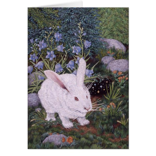 White Rabbit, by Darlene P. Coltrain Card