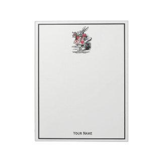 White Rabbit Court Trumpeter Alice in Wonderland Notepad