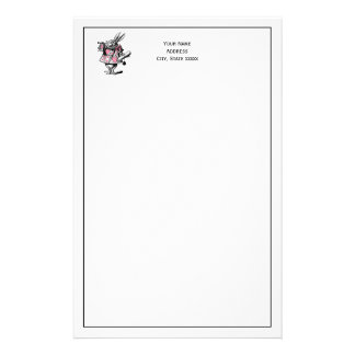 White Rabbit Court Trumpeter Alice in Wonderland P Stationery