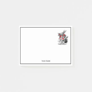 White Rabbit Court Trumpeter Alice in Wonderland Post-it® Notes