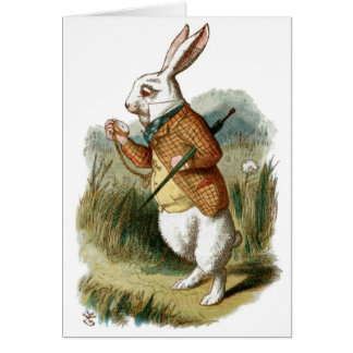 White Rabbit from Alice in Wonderland Greeting Card